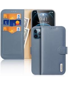 Capa Iphone 12 Flip DX Hivo Azul c/ Apoio e Slot Cartões