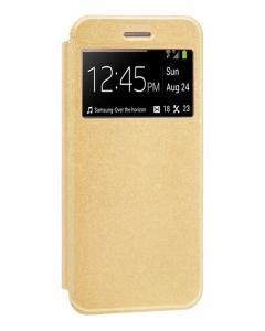 Capa Xiaomi Mi 10 Flip Alta Qualidade Dourado c/ Apoio e Janela