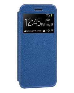 Capa Xiaomi Mi 10T Flip Alta Qualidade Azul c/ Apoio e Janela
