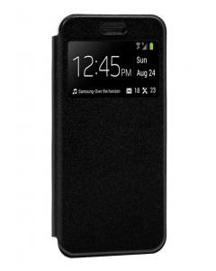 Capa Xiaomi Mi 10T Flip Alta Qualidade Preta c/ Apoio e Janela