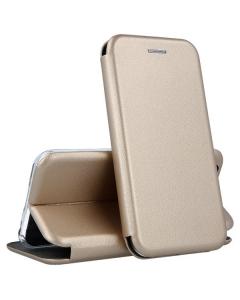 Capa Samsung Galaxy A12 Flip Lux Dourado