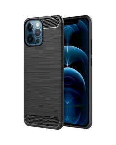 Capa Iphone 12 Pro Gel Carbono Preto