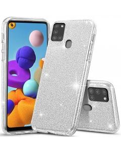 Capa Samsung Galaxy A21s Brilhantes Alta Qualidade Prateado