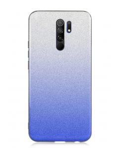 Capa Xiaomi Redmi 9 Brilhantes Degradê Prateado Azul